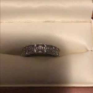 Jewelry - Costume silver cz ring. Very real looking